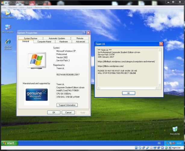 do you need a license key anymore for windows xp sp3 new install